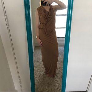 Helmut Lang draped dress as is